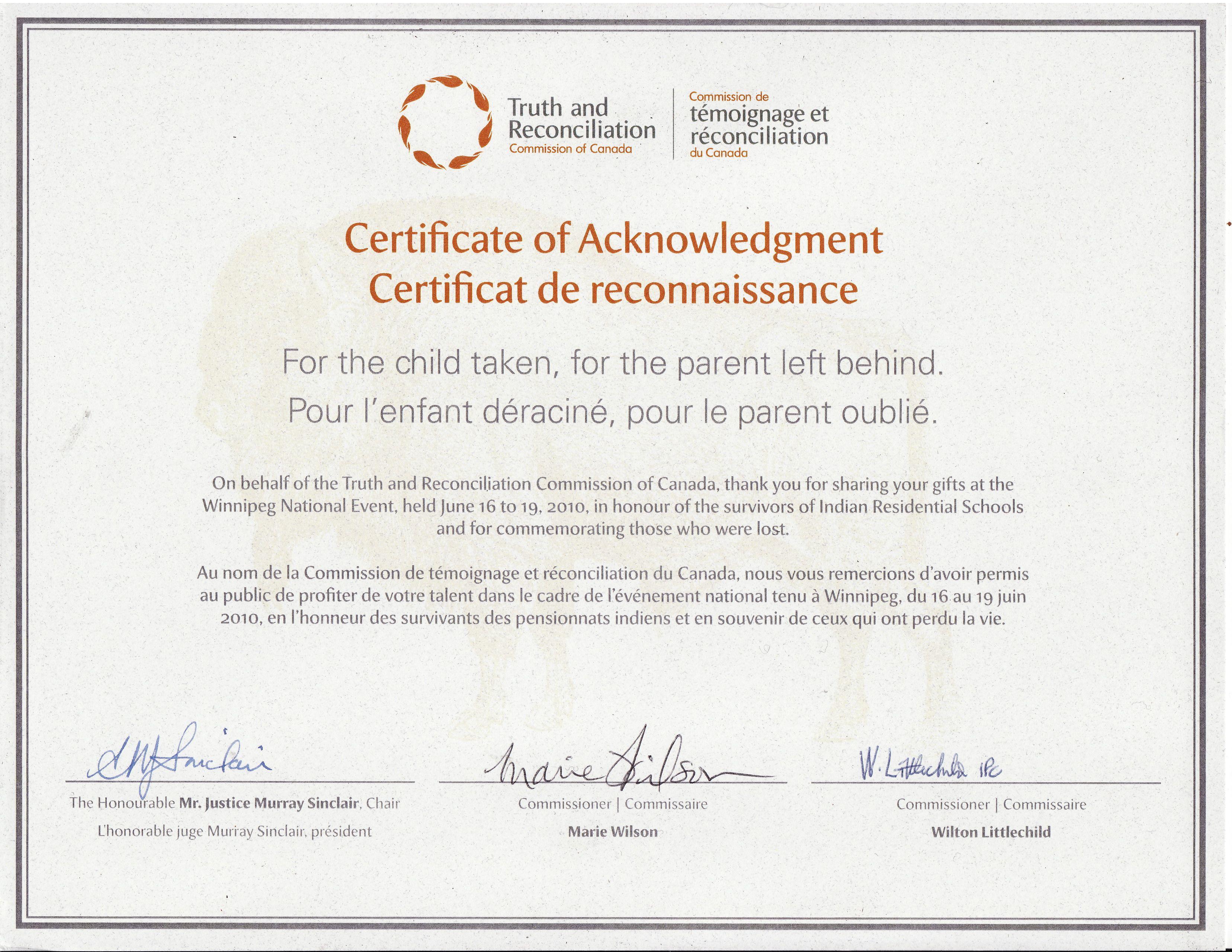 Magic arrow productions certificate of acknowledgement xflitez Images